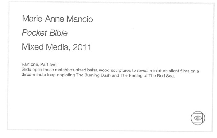 MMancio Pocket Bible 2011